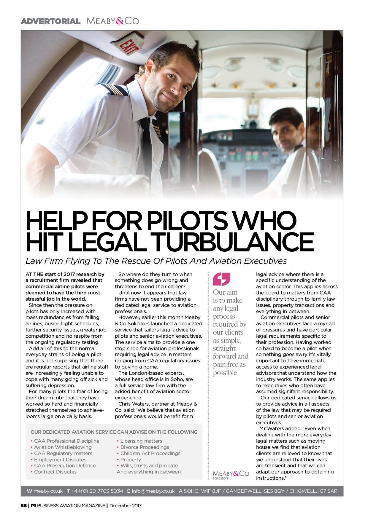 Law Firm Flies To Rescue Of Pilots
